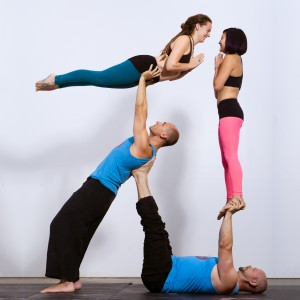 Acro Ninja Pyramid with Hobs Hobotus, Molly Murphy and Shantel Thilman. Photo by Tony Peniche of NXT Industries