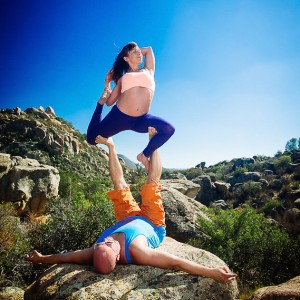 Mermaid pose with Alina Primelles. Photo by Kabir Cardenas.